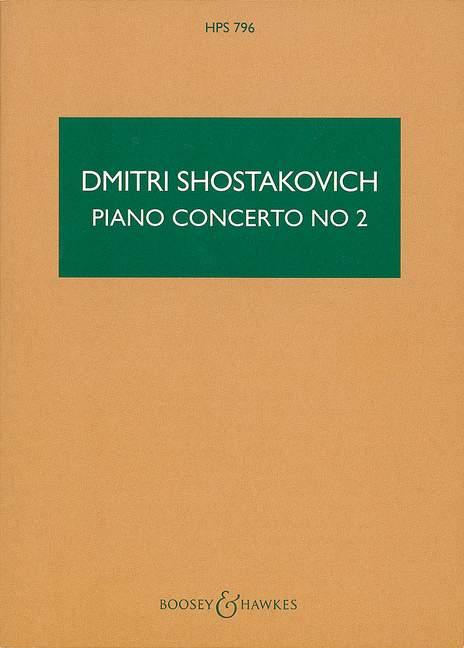 Piano Concerto No. 2 op. 102 Shostakovich, Dmitri study score piano and orches